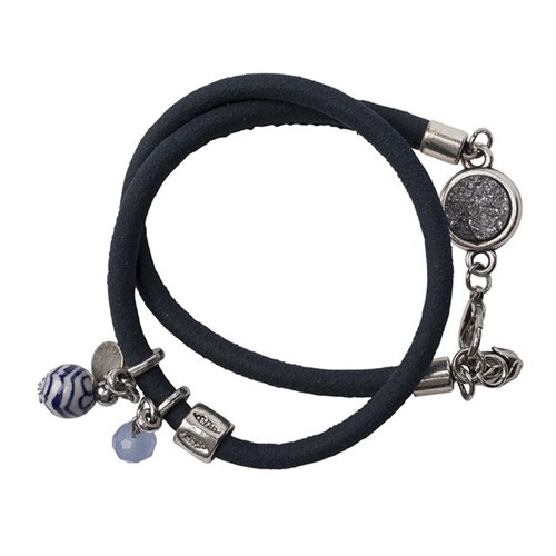 Armband Holland zilver/blauw
