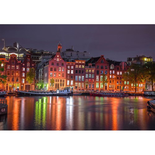 Wooden puzzle Amsterdam by night L