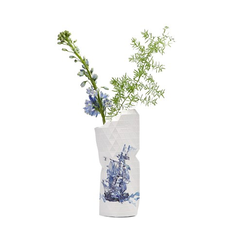Paper Vase Delft blue - Small