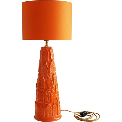 Oranje lamp huisjes