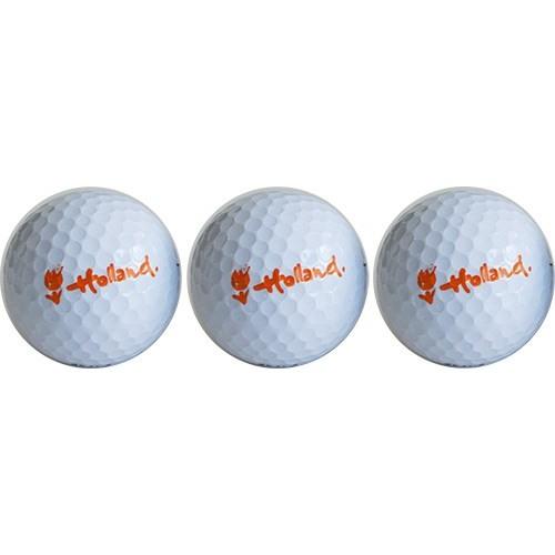 Golfballen Wilson Titanium Holland logo