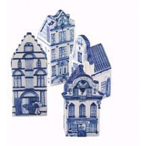 Spaarpotten Delftsblauw 4 stuks in doos