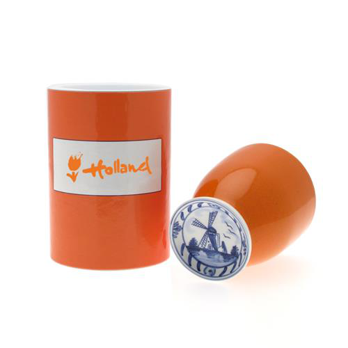Beker Holland Design in Oranje Koker