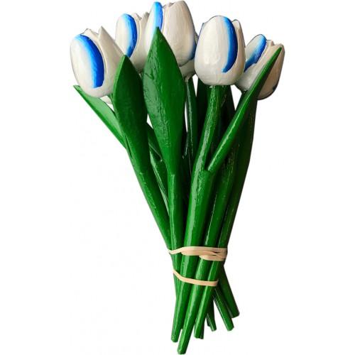 Bosje kleine houten tulpen